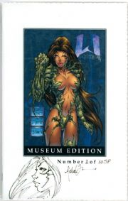 Witchblade #1/2 Museum Edition Sketch Premium Signed Michael Turner COA #1/10 !